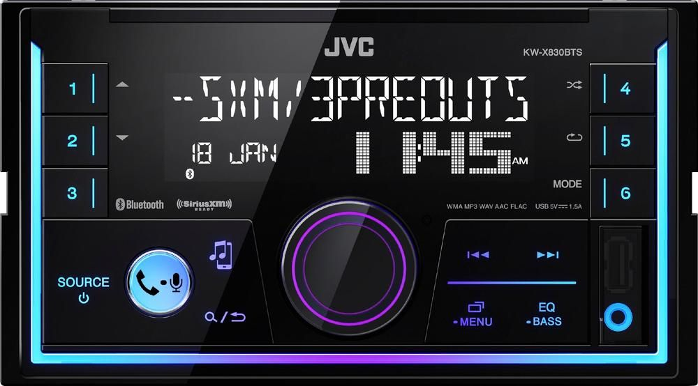 Jvc Built In Bluetooth In Dash Digital Media Receiver Black