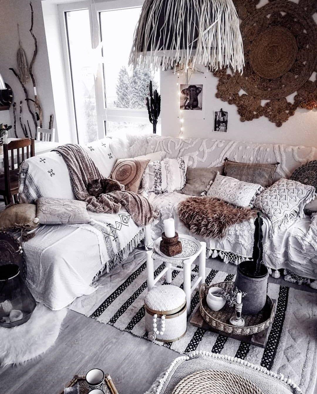 Best Pin On Black White Bohemian Neutral Bohemian Home Decor Ideas 400 x 300