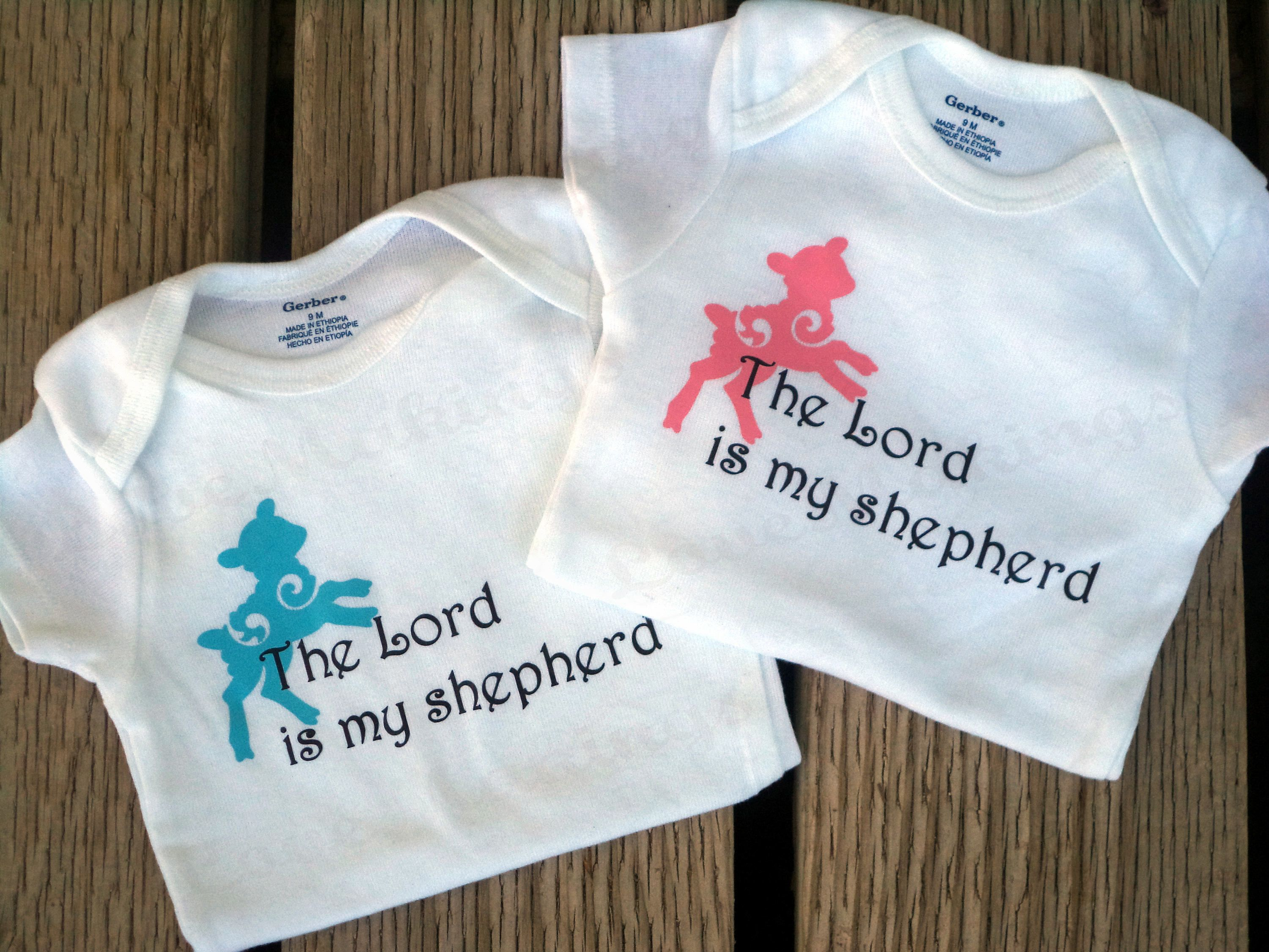 PSALM 23/ The Lord is my Shepherd - Christian Baby Onesie by LoveMakingsAndDesign on Etsy