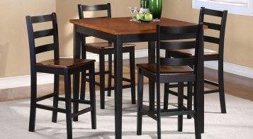 Barstools - black & oak 17.5 x 18.5 x 39H
