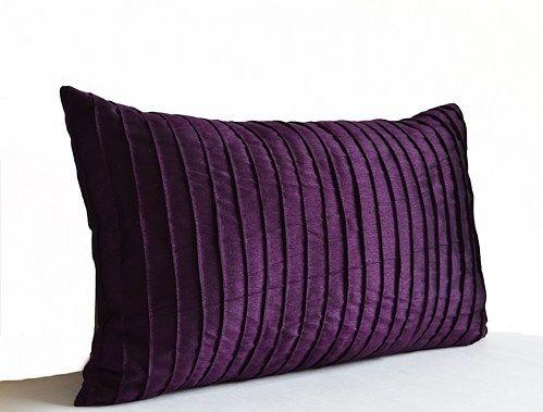Purple Decorative Pillow Cushion Cover Deep Dark Throw