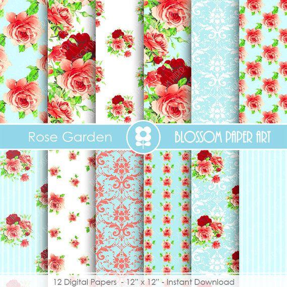 Papeles decorativos floreados para imprimir descarga - Papeles decorativos pared ...