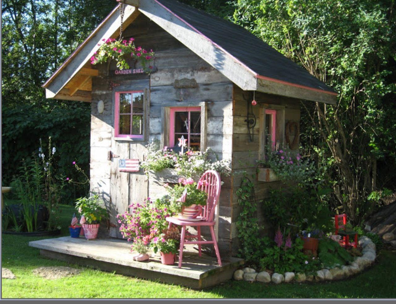 Casita cosas bonitas pinterest casitas casas y jard n for Casita madera jardin