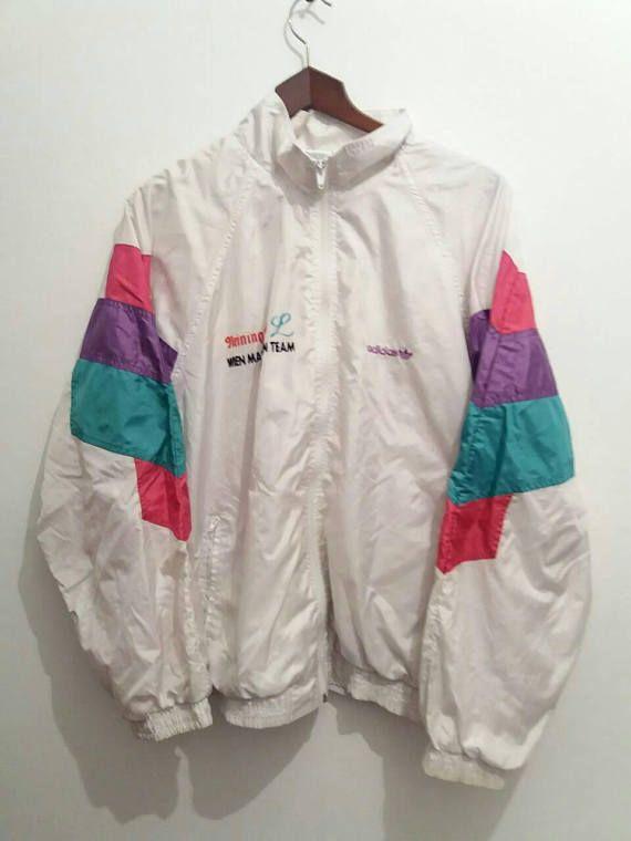 6b44140998f7 Vtg ADIDAS shell windbreaker jacket   big logo   old school retro bomber  rap outdoor   90s 80s fila jogging nike puma nike Reebok   Size L Size L  Condition ...