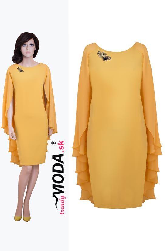 d345e9ed2e10 Žlté extravagantné spoločenské šaty pre moletky- trendymoda.sk ...