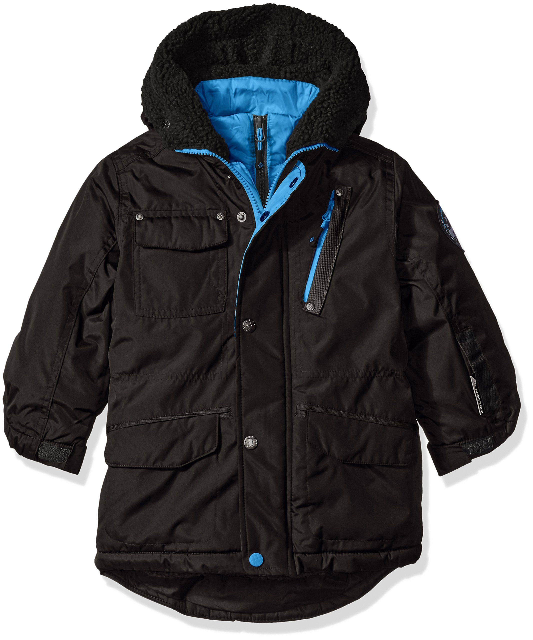 Big Chill Big Boys Expedition Jacket With Vestee Black 10 12 Berber Lined Body And Hood 4 Front Pockets Girls Jacket Jackets Outerwear Fashion [ 2560 x 2131 Pixel ]