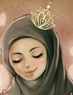 Cute hijabi girl crown.... | Anime muslim, Hijab cartoon, Muslim girls