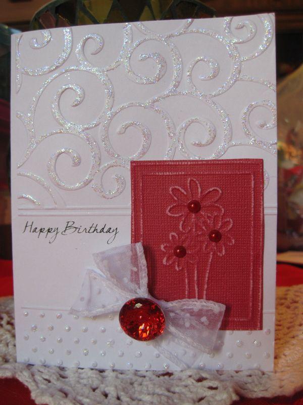 Happy Birthday card - Sizzix texture boutique - Scrapbook - birthday card sample