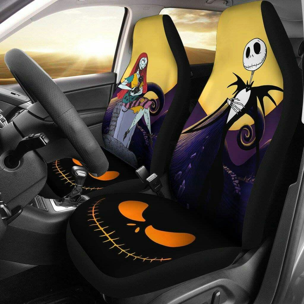 Terrific Jack And Sally Seat Covers In 2019 Nightmare Before Bralicious Painted Fabric Chair Ideas Braliciousco
