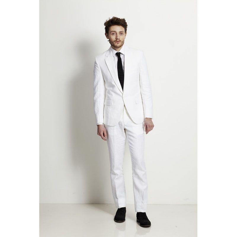 2017 Latest Coat White Beach men wedding suits Slim Fit 2 Pieces ...