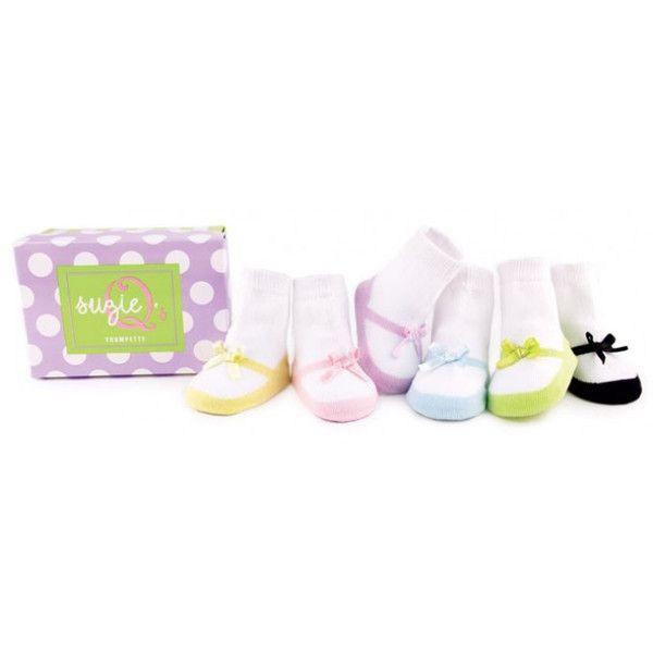 Trumpette SUZIE Q designer Baby sokjes ($29) via Polyvore