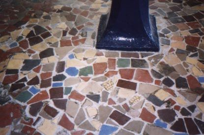 Mosaic Floor Transition Piece In Entry Way To School Like Messenger