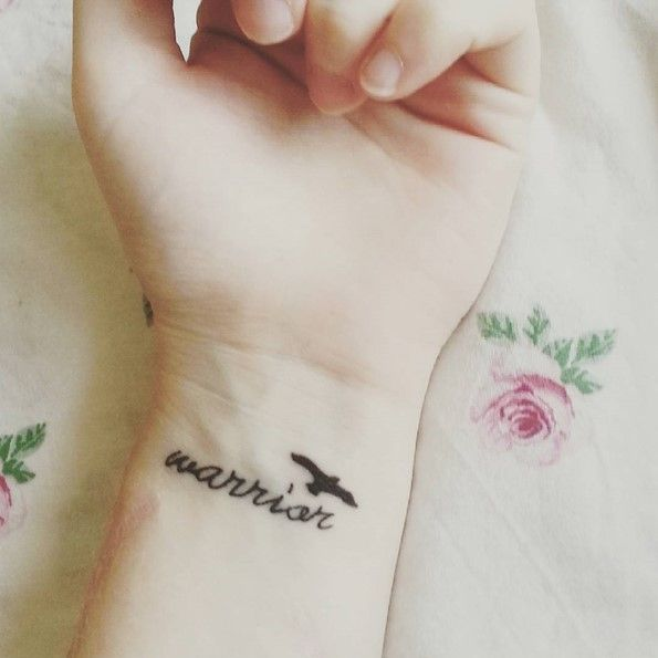 Tattoo For Mental Strength: Semicolon Warrior TattooI Am A Fighter I Am Strong My