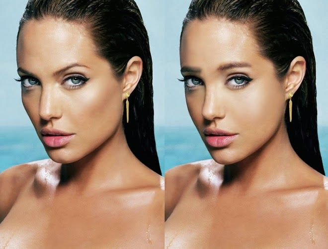 If Angelina Jolie Had Straight Brows Other Modifications