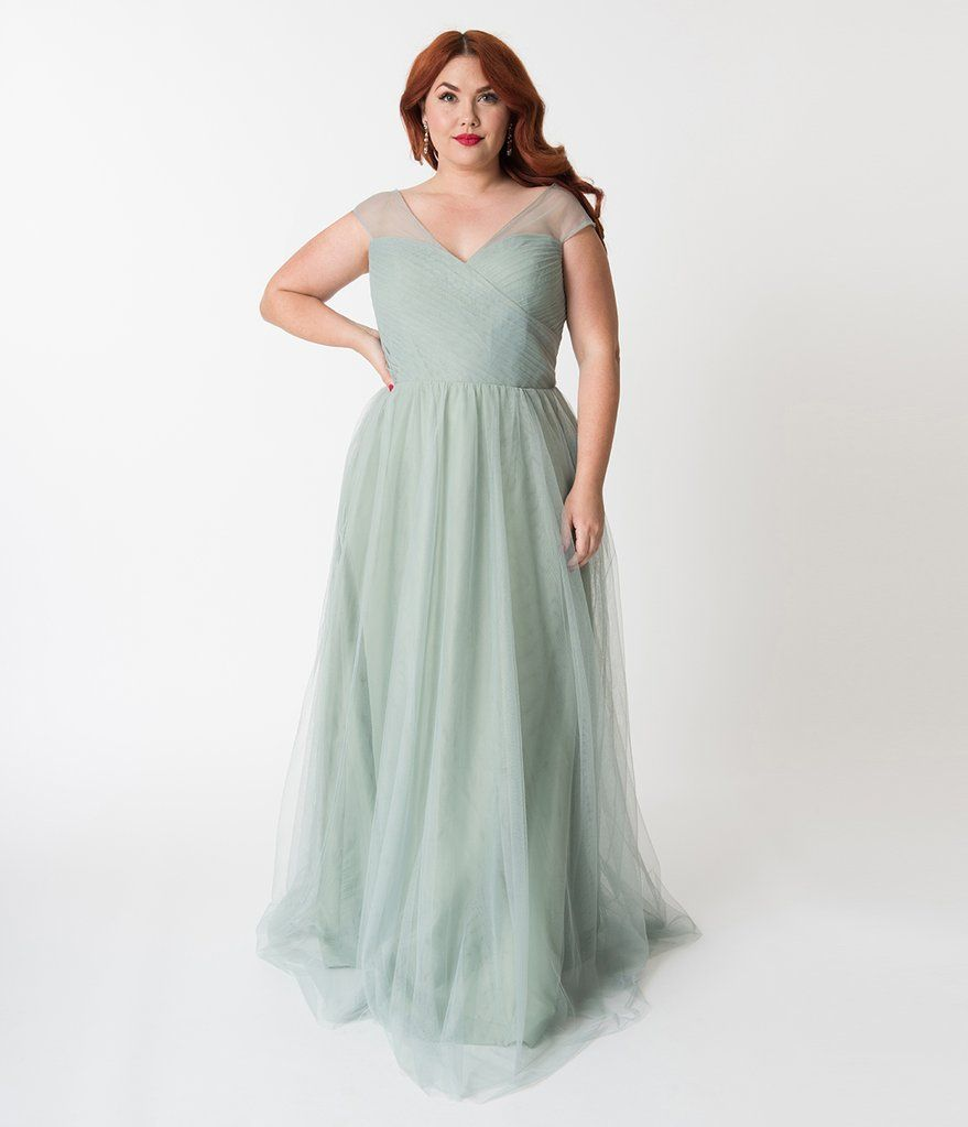 42++ Sage green dress for wedding plus size information