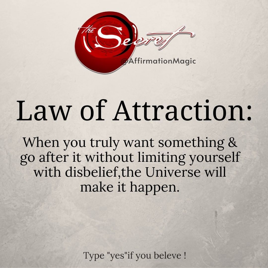 Trust The Universe! Secret Quote, Law of Attractio