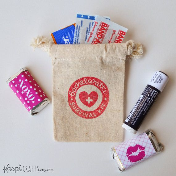 Pack Of 10 Bachelorette Party Survival Kit Hangover Favors