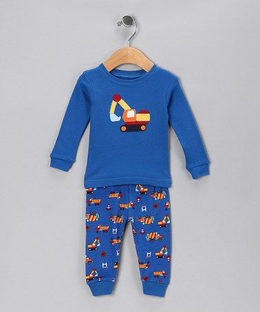 Take a look at this Blue Truck Pajama Set - Infant & Toddler by Leveret Baby on #zulily today!