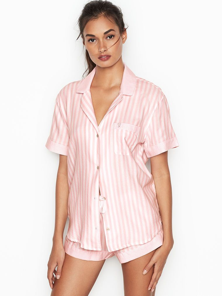 c13b99bb3169f Victoria's Secret Flannel Boxer PJ | Products in 2019 | Silk pajamas ...