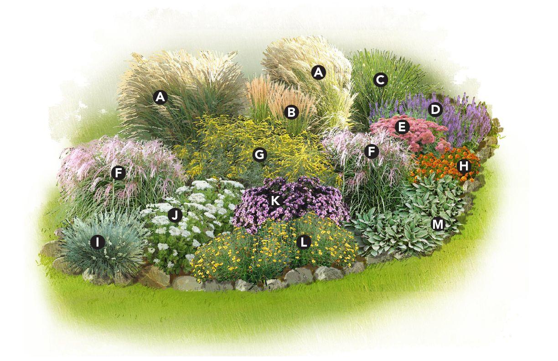 Homeyardyou presents ornamental garden plan for Ornamental grass landscape ideas