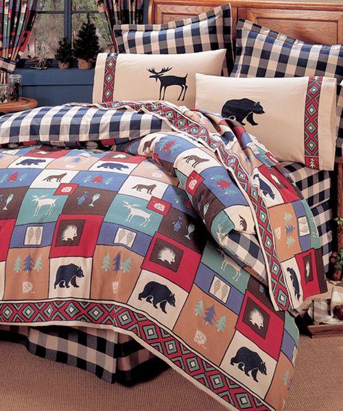 Woods Cabin Bedding Moose Bear Bedding Set Comforter Sets
