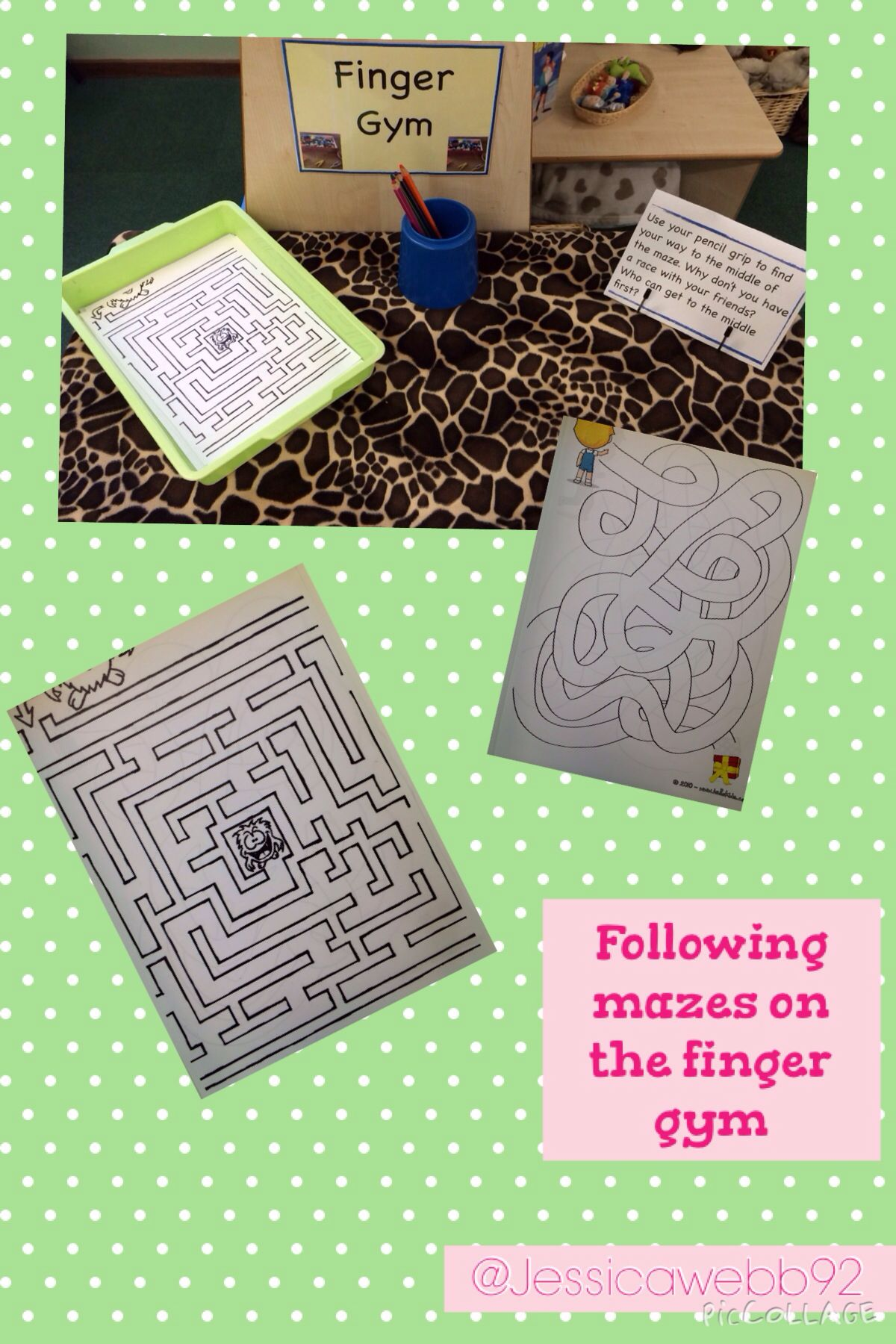 tracing the mazes on the finger gym early years motor skills fine motor skills development. Black Bedroom Furniture Sets. Home Design Ideas