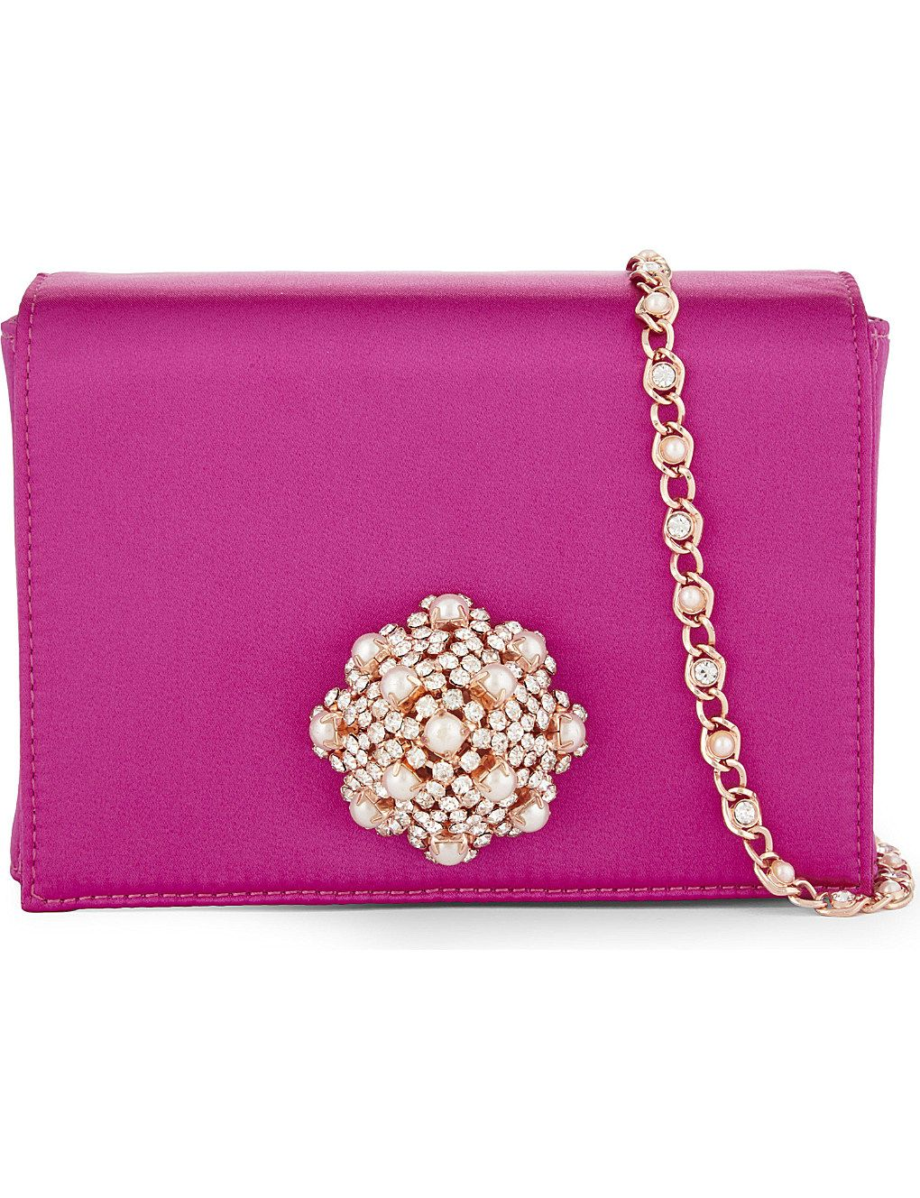 ac2a544a279 Selinaa brooch satin evening bag Ted Baker Handbag, Pearl Brooch, Dressy  Outfits, Evening