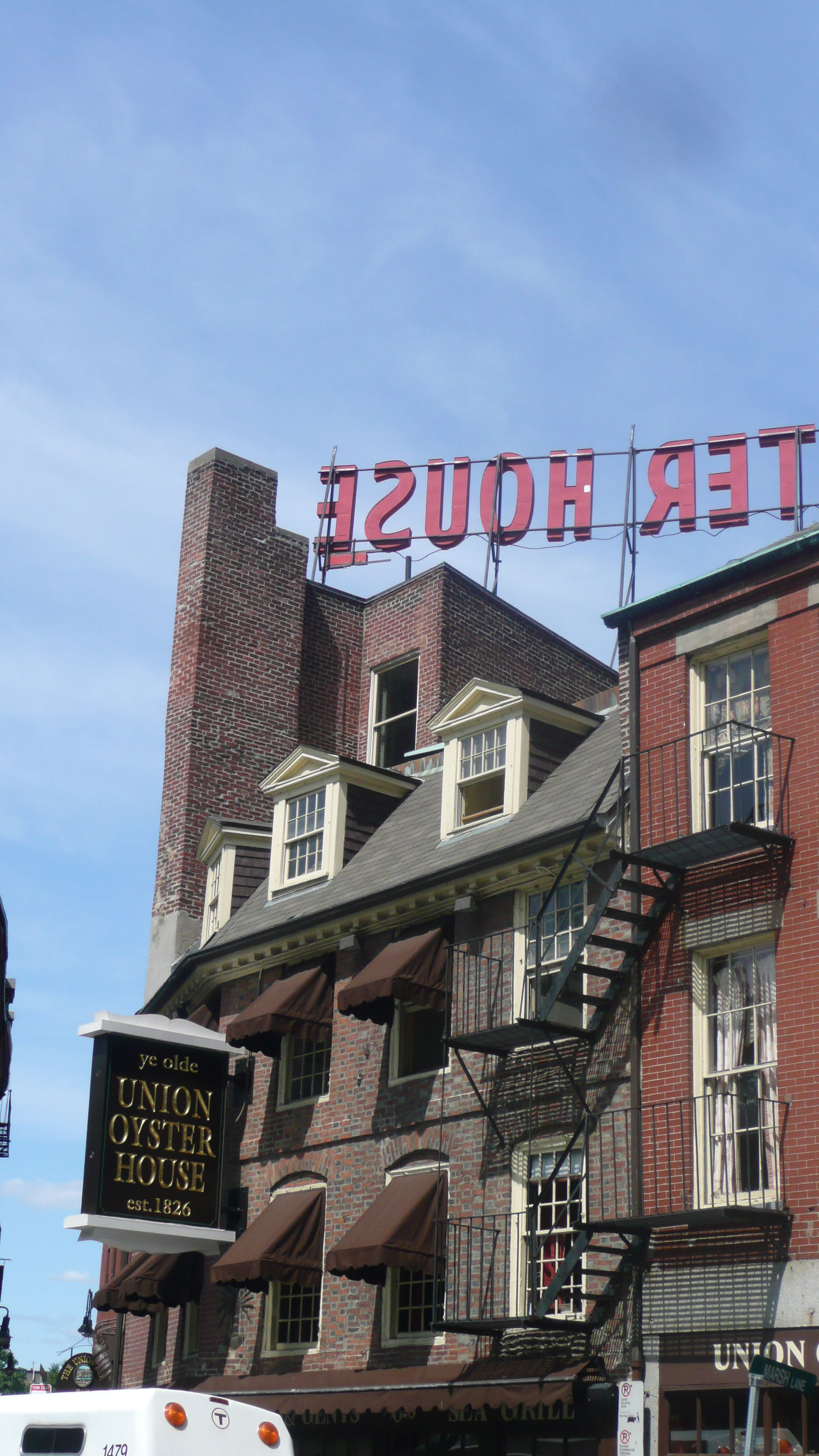 Ye Olde Union Oyster House, est  1826 is the oldest