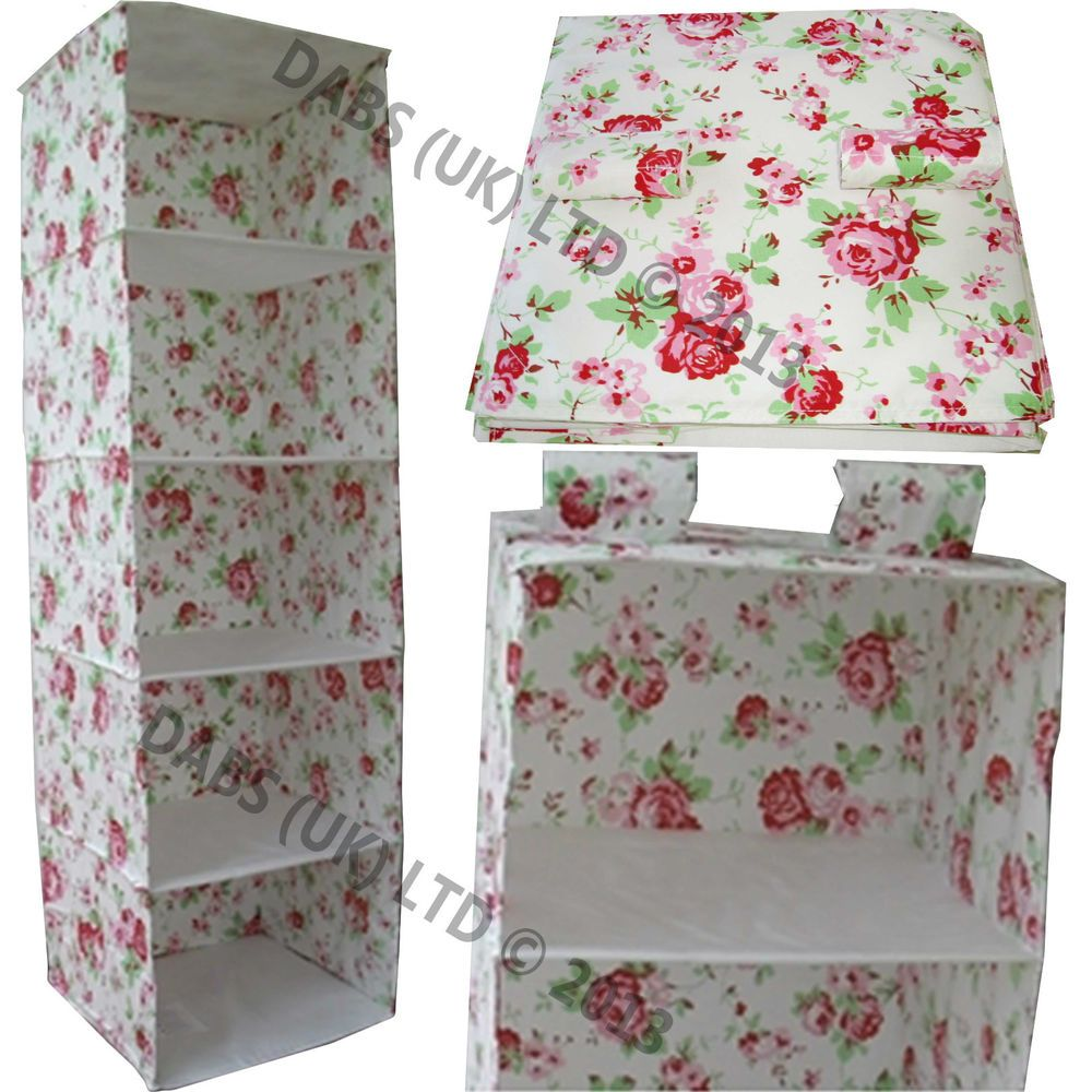 skubb clothes hanging wardrobe organiser rosali fabric by kath kidston for ikea room. Black Bedroom Furniture Sets. Home Design Ideas
