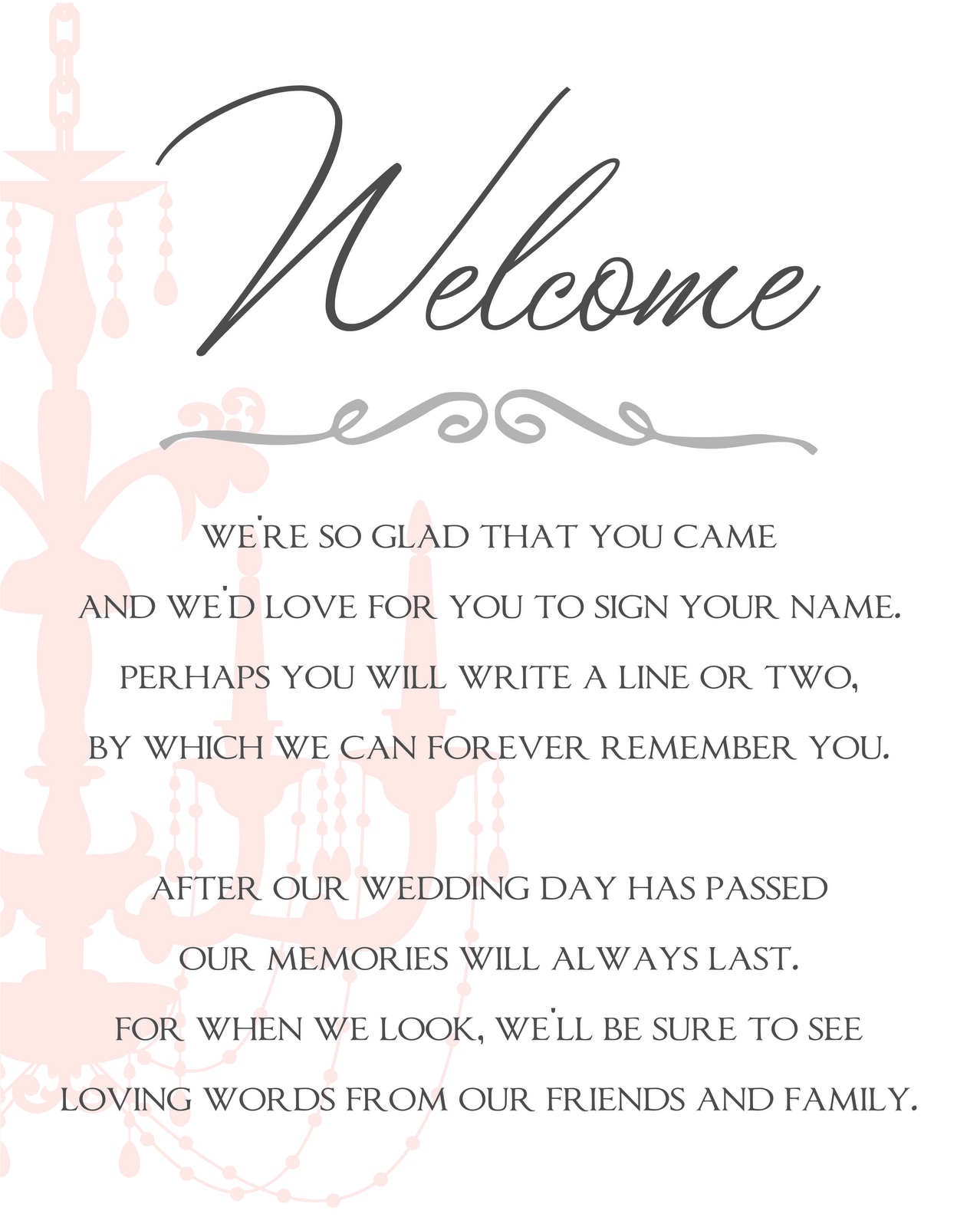Free printable wedding programs templates wedding program guestbook sign and reserved signs for Wedding signs templates