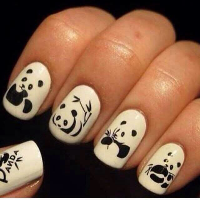 Image viaPanda nail art designsImage viaHow to Create Cute Panda Nail Art  Image viaPanda nails! - Panda Nails |thenailtrail's Photo On Instagram My Favorite Nail