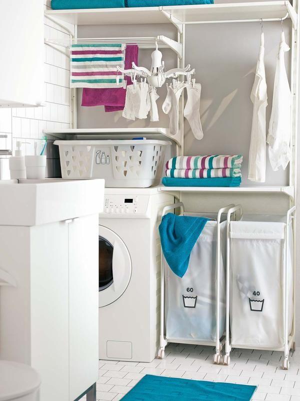 C mo organizar un cuarto de lavado y plancha ba o ikea for Planchas para forrar banos