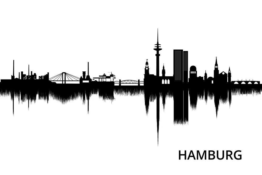 hamburg skyline stadt stadtportrait kunst art poster amazing beautiful tatted up. Black Bedroom Furniture Sets. Home Design Ideas
