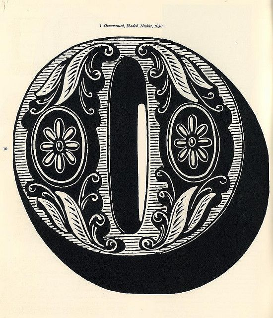 """Ornamented, Shaded. Nesbitt (Mfg), 1838. from Design Quarterly 56 Issue on Wood Type authored/designed by Rob Roy Kelly Walker Arts Center, 1963 """"A category of early embellished type was the historied letter...natural forms such as acanthus leaves, fruits, flowers, landscape and architectural details served as inspiration"""""""