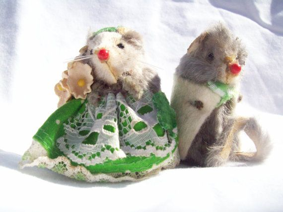 Vintage Fur Mouse St. Patrick's Day Couple by Krinkled on Etsy, $25.00