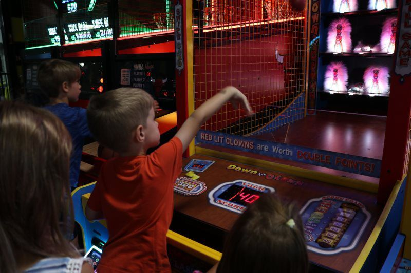 I don't know what it is about arcades, but kids love them