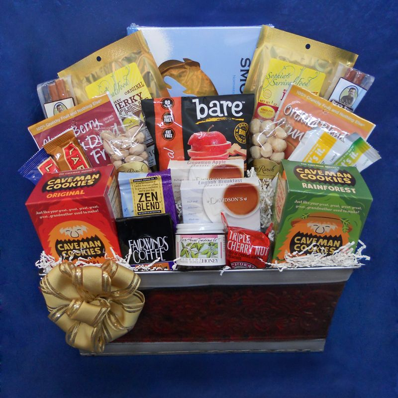 Saber tooth paleo gift basket a generous basket perfect to send gluten free saber tooth paleo gift basket a generous basket perfect to send to an office negle Images