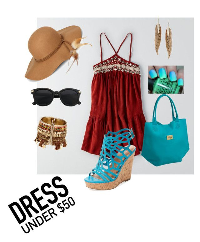 """dress under 50 and festival ready"" by bostonhibiscus on Polyvore featuring American Eagle Outfitters, Steve Madden, Roberto Cavalli and Charles by Charles David"