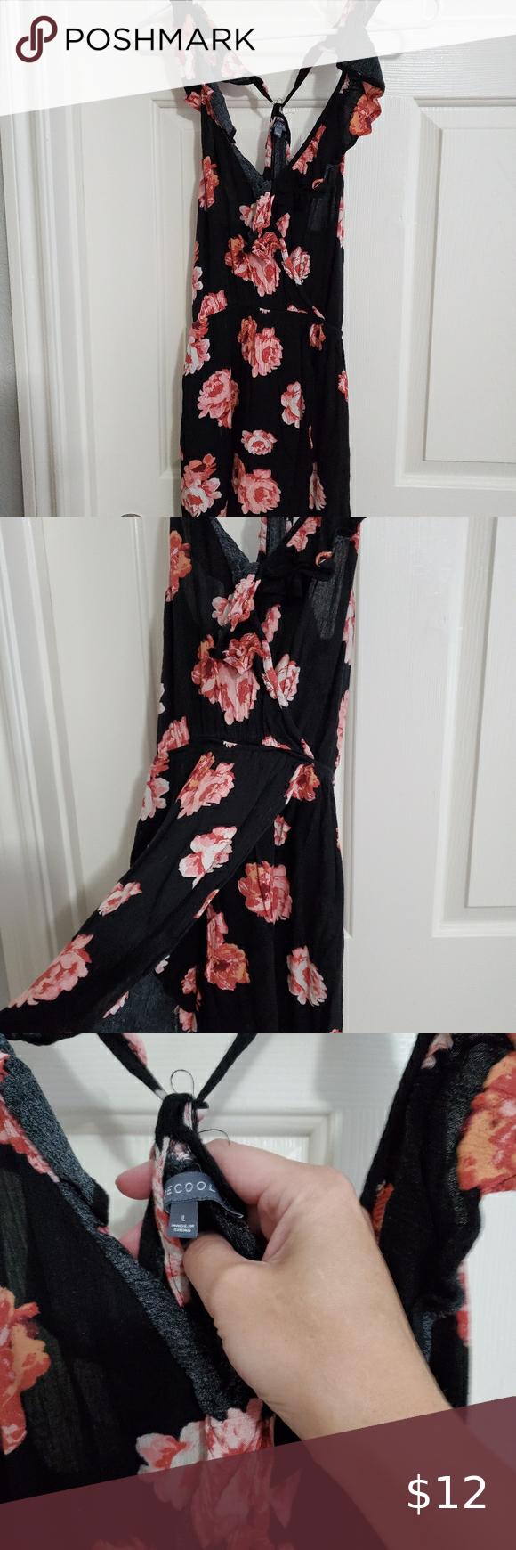 Black Dress With Pink Flowers Cute Summer Dresses Dresses Black Dress [ 1740 x 580 Pixel ]