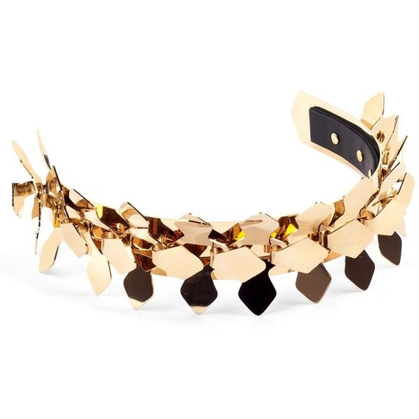 MOXHAM Verity Headband - Gold (38,510 DOP) ❤ liked on Polyvore