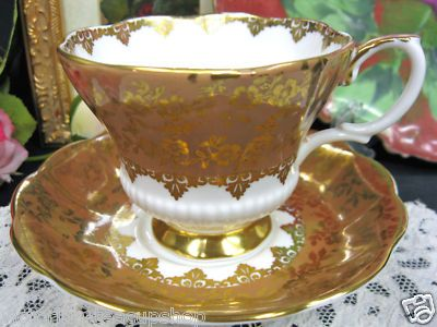 Royal Albert Tan Consort Pattern Tea Cup and Saucer