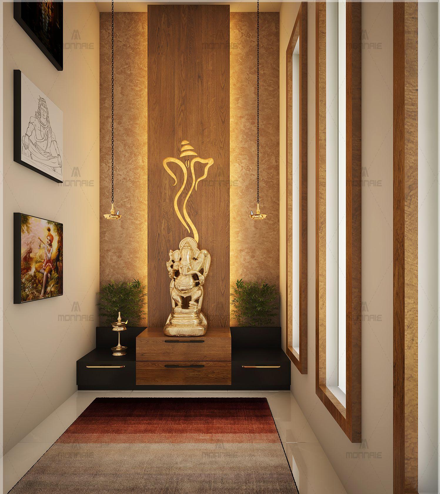 Luxury Interiordesign: Simple Ideas For Beautiful Pooja Rooms In 2020