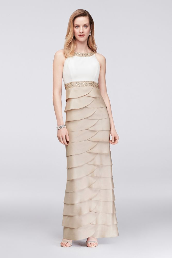 Two Tone Mother of Bride Dresses