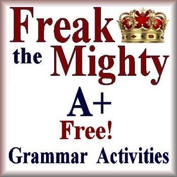 Freak The Mighty Free Grammar Activities Worksheet Novel U Freak The Mighty Novel Studies Grammar Activities Worksheets