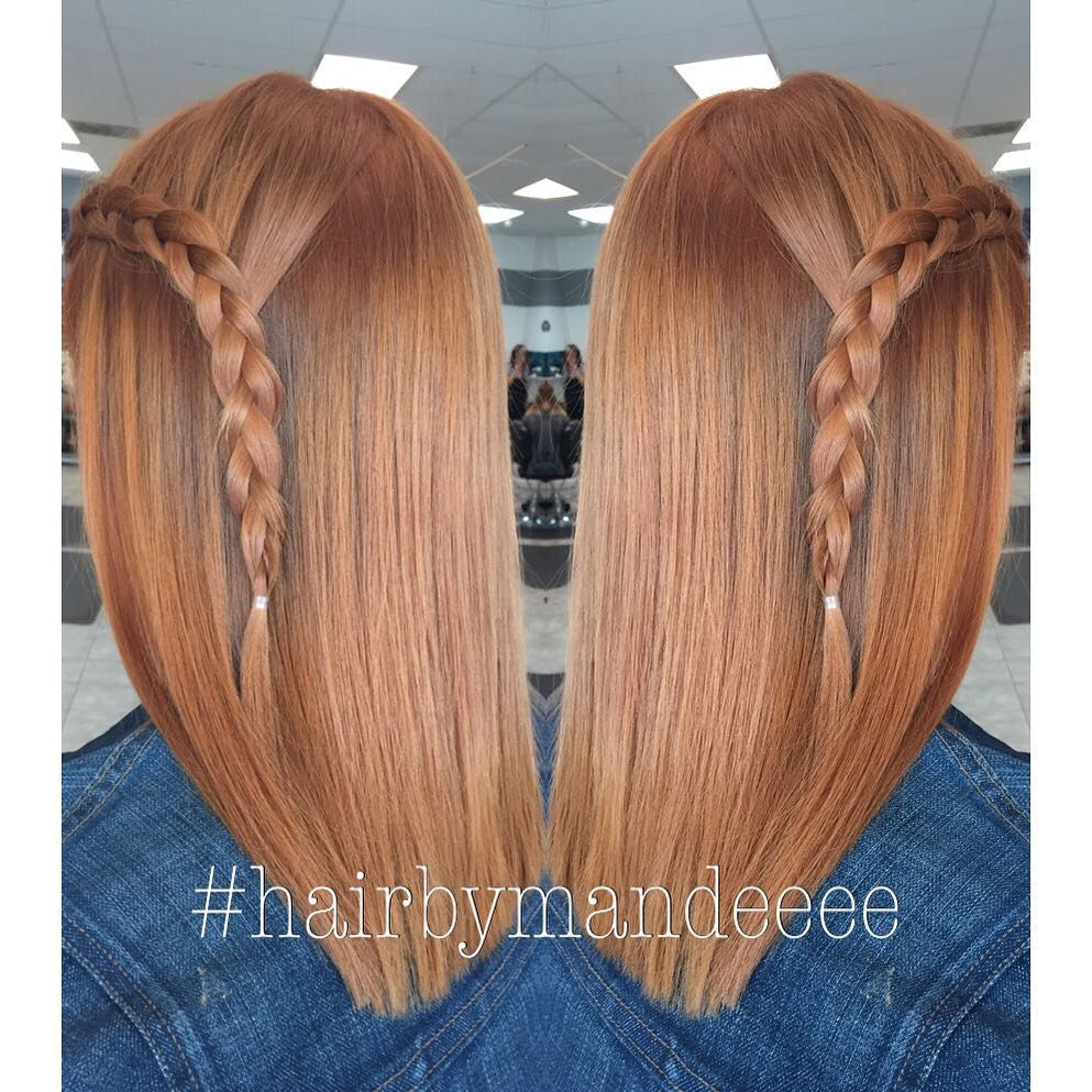 """_mandeeee on Instagram: """"She wanted to be a """"Natural Redhead"""" So that's what we did! ☺️ #hairbymandeeee #redkenofficial #unitehair #shadeseq #redhead #braid #cilantrohairspa #modernsalon #behindthechair #redhair"""""""