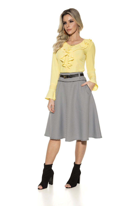 4b9810a880 Saia Godê Moda Evangélica - Via Tolentino Roupas Femeninas