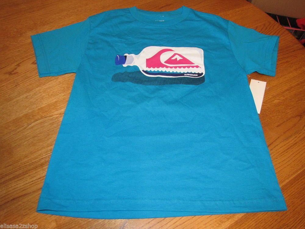 Boys youth Quiksilver surf skate t shirt L large kids TEE NEW Messenger Tbar #Quiksilver