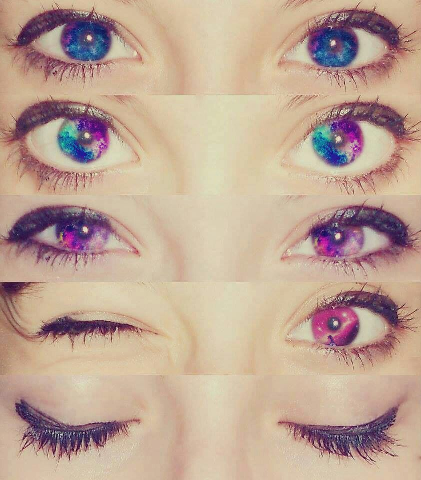 Color contact lenses online shop - Galaxy Eyes Colored Contacts I Want Them Would You Wear These Comment Yes