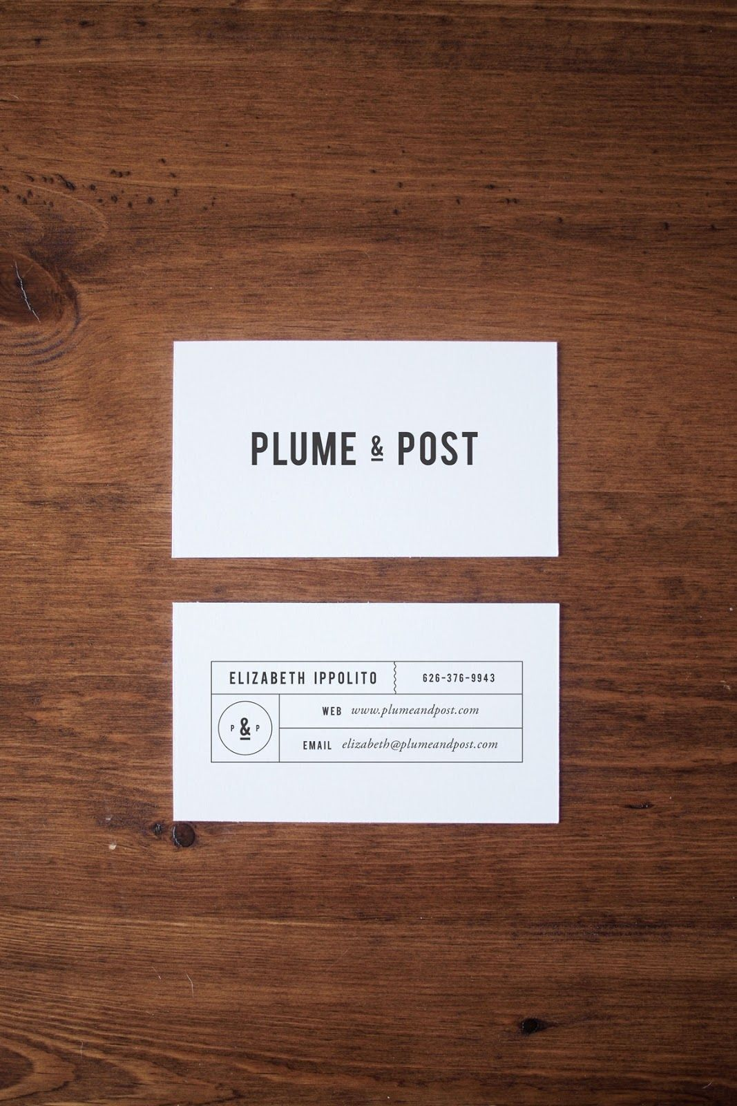 Plume & Post | Business cards, Pear and Business