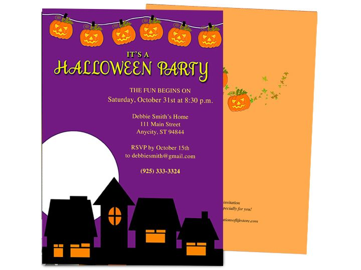 Darkness Halloween Party Invitation Template  Halloween Party